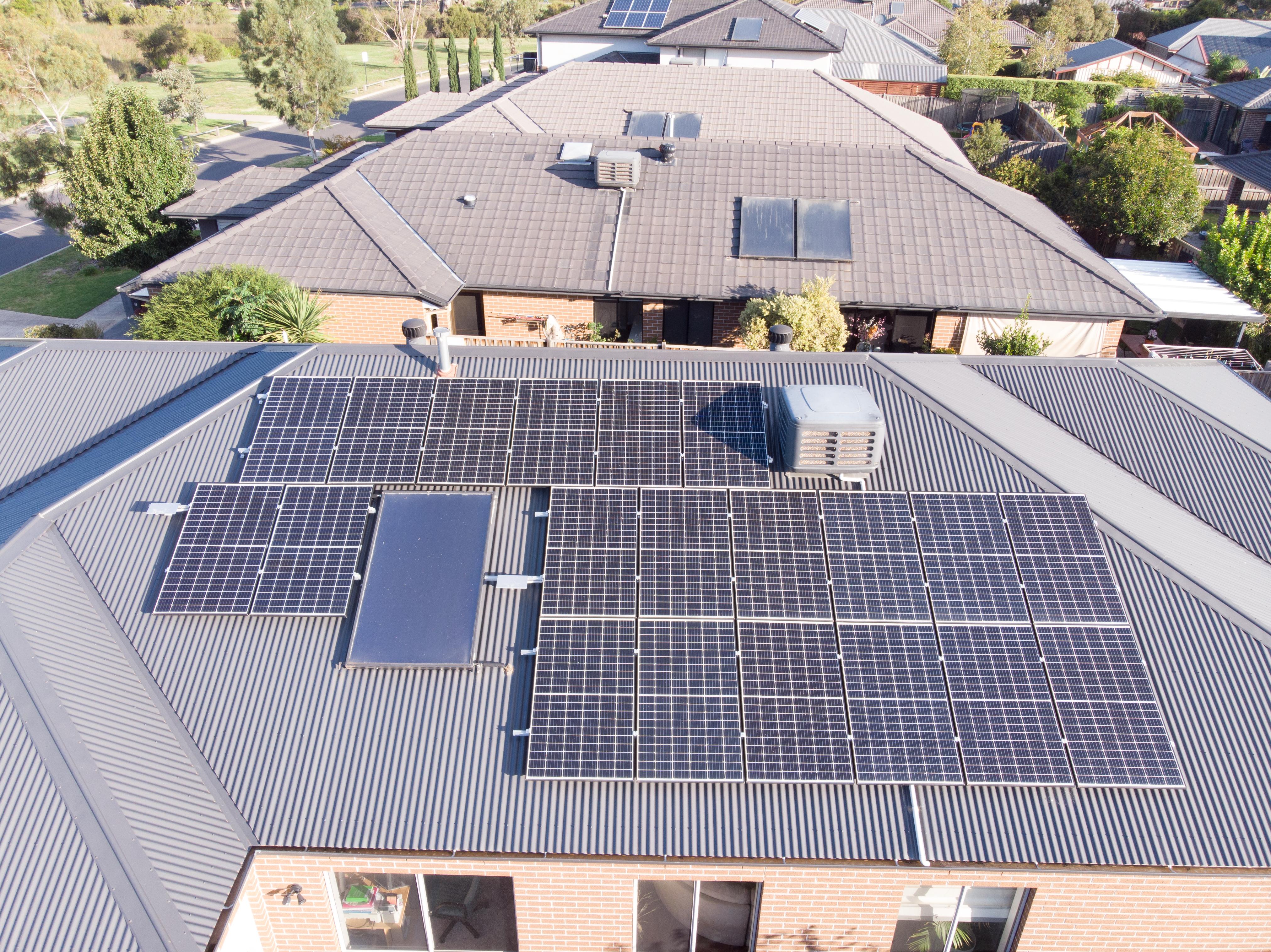 6.6kW solar panel installation in Melbourne