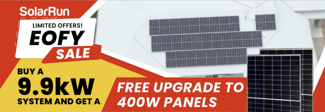 9.9kW System Free Upgrade to 400W panel